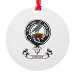 Badge - Clelland Round Ornament
