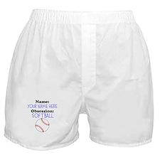 Custom Softball Obsession Boxer Shorts
