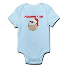 Custom Cute Zebra With Santa Hat Body Suit