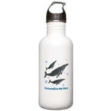 Personalized Humpback Whale Water Bottle