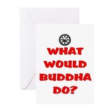 WHAT WOULD BUDDHA DO? Greeting Cards (Pk of 20)