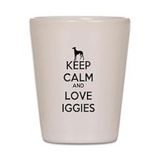 Keep Calm and Love Iggies Shot Glass