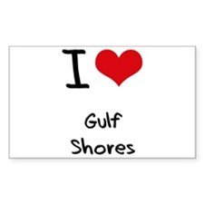 I Love GULF SHORES Decal