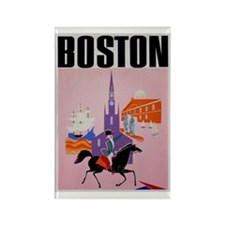 Vintage Boston MA Travel Rectangle Magnet