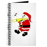 Santa Plays Trombone Christmas Journal