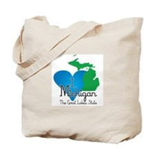 I Heart Michigan Tote Bag