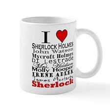 I Heart Sherlock Small Mug