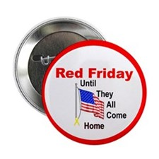 "Red Friday (yellow ribbon) 2.25"" Button (10 pack)"