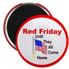 "Red Friday (yellow ribbon) 2.25"" Magnet (10 pack)"