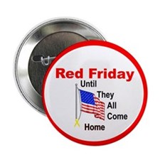 "Red Friday (yellow ribbon) 2.25"" Button (100 pack)"