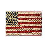 Flower Power US Banner Rectangle Magnet (10 pack)