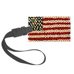 Flower Power US Banner Luggage Tag
