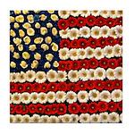 Flower Power US Banner Tile Coaster
