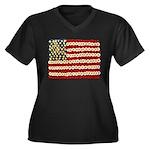 Flower Power US Banner Plus Size T-Shirt