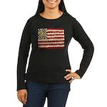 Flower Power US Banner Long Sleeve T-Shirt