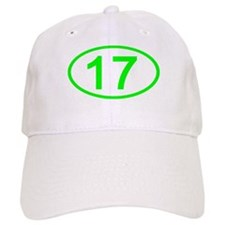 Number 17 Oval Baseball Cap