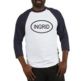 Ingrid Oval Design Baseball Jersey