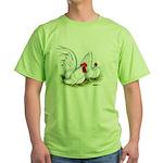 White Japanese Bantams Green T-Shirt