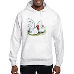 White Japanese Bantams Hooded Sweatshirt