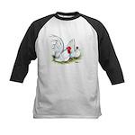 White Japanese Bantams Kids Baseball Jersey