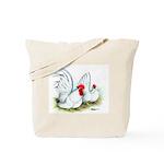 White Japanese Bantams Tote Bag