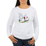 White Japanese Bantams Women's Long Sleeve T-Shirt