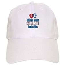 48 year old birthday girl designs Baseball Cap