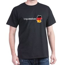 Impossible Germany white text T-Shirt