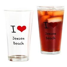 I Love JENSEN BEACH Drinking Glass