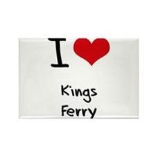 I Love KINGS FERRY Rectangle Magnet