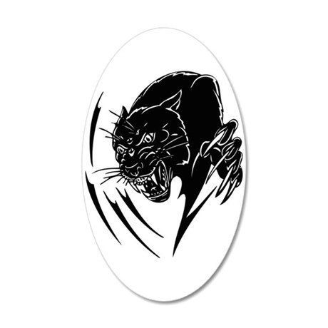 BLACK PANTHER 35x21 Oval Wall Decal
