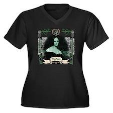 Shelley Frankenstein Women's Plus Size V-Neck Dark