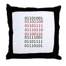 """Say """"I Love You"""" in binary code Throw Pillow"""