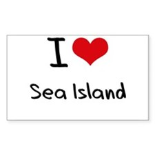 I Love SEA ISLAND Decal