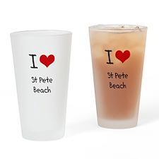 I Love ST PETE BEACH Drinking Glass