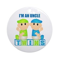 I'm An Uncle (BBB:blk) Ornament (Round)