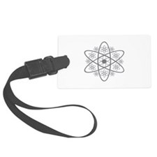 Atomic Floral Luggage Tag