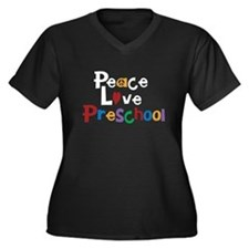 Peace Love Preschool Plus Size T-Shirt