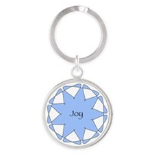 Joy Blue Star Keychain