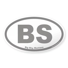 Big Sky Montana BS Euro Oval Decal