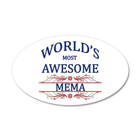 World's Most Awesome Mema 20x12 Oval Wall Decal