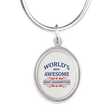 World's Most Awesome Great Grandmother Silver Oval