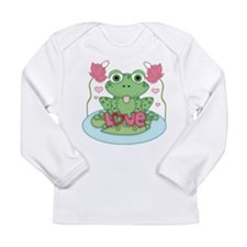 Valentine Frog with Love Long Sleeve T-Shirt
