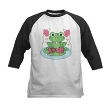 Valentine Frog with Love Baseball Jersey