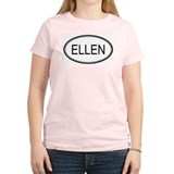 Ellen Oval Design Women's Pink T-Shirt