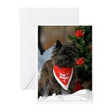 Cairn Terrier Happy Holidays Greeting Cards