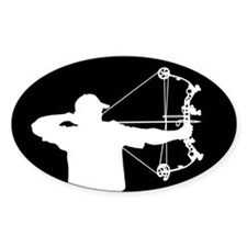Bow Hunter (black version) Bumper Stickers
