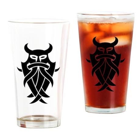Odin's Mask Tribal Drinking Glass