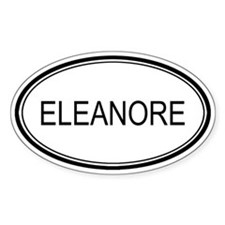 Eleanore Oval Design Oval Decal