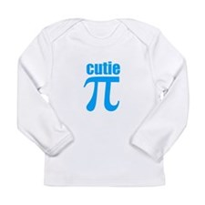 Cutie Pi In Blue Long Sleeve T-Shirt